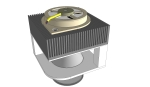 Concept Sketch Universal High-Power LED Module Downlight fixture - fan