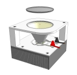 Concept Sketch Universal High-Power LED Module Downlight fixture - lens