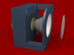 3D Render - Concept Universal High-Power LED Module Downlight fixture